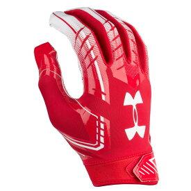 アンダーアーマー Under Armour メンズ アメリカンフットボール グローブ【F6 Football Gloves】Red/White