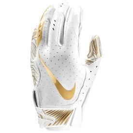 ナイキ Nike メンズ アメリカンフットボール グローブ【Vapor Jet 5.0 Football Gloves】White/White/Metallic Gold White Pack