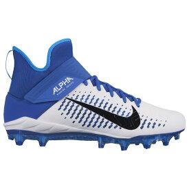 ナイキ Nike メンズ アメリカンフットボール シューズ・靴【Alpha Menace Pro 2 MID】White/Black/Game Royal
