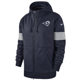 ナイキ Nike メンズ アメリカンフットボール トップス【NFL Therma Full-Zip Hoodie】NFL Los Angeles Rams College Navy