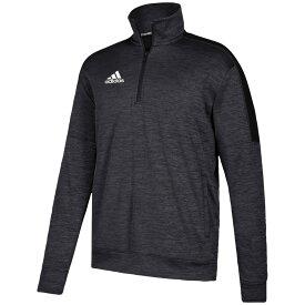 アディダス adidas メンズ フィットネス・トレーニング トップス【Team Issue Fleece 1/4 Zip】Black/White