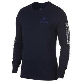 ナイキ ジョーダン Jordan メンズ バスケットボール 長袖Tシャツ トップス【JSW Greatest Long Sleeve T-Shirt】Blackened Blue/White/Germain Blue
