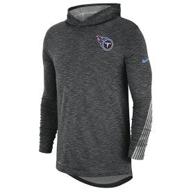 ナイキ Nike メンズ アメリカンフットボール Tシャツ トップス【NFL Scrimmage Hoodie L/S T-Shirt】NFL Tennessee Titans Charcoal Heather