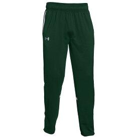 アンダーアーマー Under Armour メンズ フィットネス・トレーニング ボトムス・パンツ【Team Qualifier Warm-Up Pants】Forest Green/White