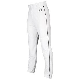 アンダーアーマー Under Armour メンズ 野球 ボトムス・パンツ【Utility Relaxed Piped Pants】White/Black/Black