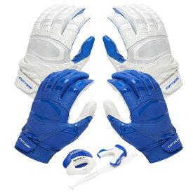 カッターズ Cutters ユニセックス アメリカンフットボール 【Rev Pro 3.0 Solid Flip Combo Pack】Royal/White Includes Sets of Receiver Gloves and Mouthguard