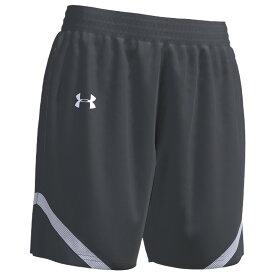 アンダーアーマー Under Armour Team レディース バスケットボール ショートパンツ ボトムス・パンツ【Team Clutch 2 Reversible Shorts】Graphite/White