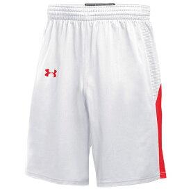 アンダーアーマー Under Armour レディース バスケットボール ショートパンツ ボトムス・パンツ【Team Fury Shorts】White/Scarlet