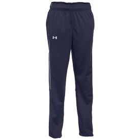 アンダーアーマー Under Armour レディース フィットネス・トレーニング ボトムス・パンツ【Team Rival Knit Warm-Up Pants】Navy/White