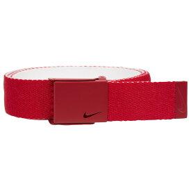 ナイキ Nike メンズ ゴルフ ベルト【Classic Essentials Web Golf Belt】Varsity Red/White