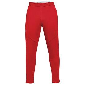 アンダーアーマー Under Armour メンズ フィットネス・トレーニング ボトムス・パンツ【Team Qualifier Hybrid Warm-Up Pants】Red/White