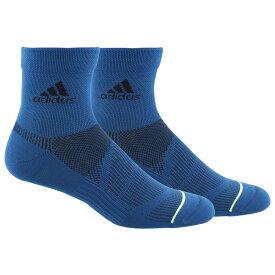 アディダス adidas メンズ フィットネス・トレーニング 2点セット ソックス【2 Pack Superlite Prime Quarter Socks】Marine Blue/Yellow/Black