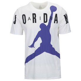 ナイキ ジョーダン Jordan メンズ バスケットボール ジャンプマン Tシャツ トップス【Jumpman Air HBR T-Shirt】White/Germain Blue/Black