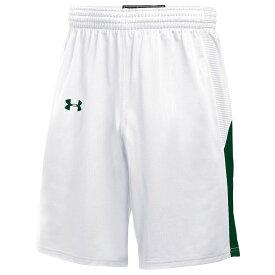 アンダーアーマー Under Armour レディース バスケットボール ショートパンツ ボトムス・パンツ【Team Fury Shorts】White/Dark Green