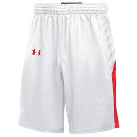 アンダーアーマー Under Armour メンズ バスケットボール ショートパンツ ボトムス・パンツ【Team Fury Shorts】White/Scarlet