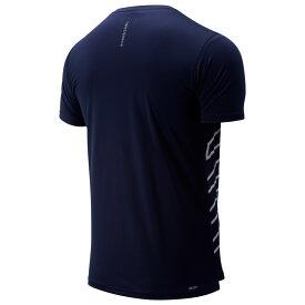 ニューバランス New Balance メンズ ランニング・ウォーキング トップス【Accelerate Short Sleeve T-Shirt】Pigment/White Print