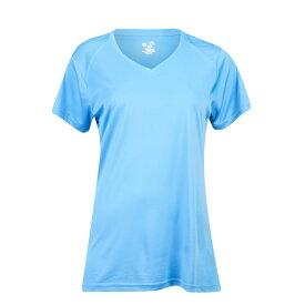バジャー スポーツウェア Badger Sportswear レディース フィットネス・トレーニング Vネック Tシャツ トップス【Ultimate Softlock V-Neck S/S T-Shirt】Columbia Blue