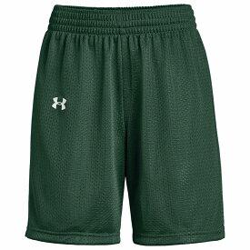 アンダーアーマー Under Armour レディース バスケットボール ショートパンツ ボトムス・パンツ【Team Triple Double Shorts】Dark Green/White