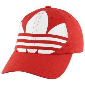 アディダス adidas Originals メンズ キャップ 帽子【Relaxed Big Trefoil Strapback】Lush Red/White