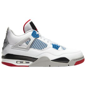 ナイキ ジョーダン Jordan メンズ バスケットボール シューズ・靴【Retro 4】White/Military Blue/Fire Red/Tech Grey