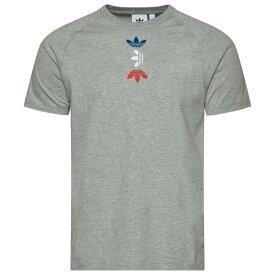 アディダス adidas Originals メンズ Tシャツ トップス【Space Tech T-Shirt】Medium Grey Heather/Lush Blue