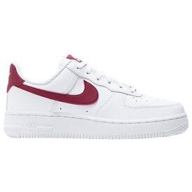 ナイキ Nike レディース バスケットボール エアフォースワン シューズ・靴【Air Force 1 07 LE Low】White/Noble Red/White
