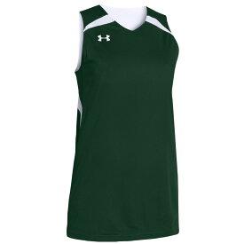 アンダーアーマー Under Armour レディース バスケットボール トップス【Team Clutch Reversible Jersey】Team Dark Green/White