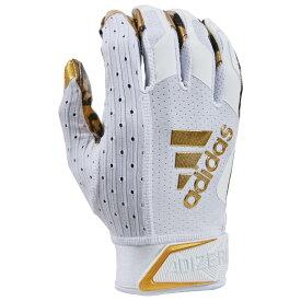 アディダス adidas メンズ アメリカンフットボール レシーバーグローブ グローブ【adiZero 9.0 Anniversary Receiver Gloves】White/Metallic Gold X Anniversary - Cheetah