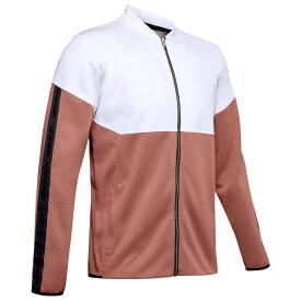 アンダーアーマー Under Armour メンズ フィットネス・トレーニング ジャケット アウター【Recover Knit Travel Jacket】Onyx White/Cedar Brown/Metallic Silver