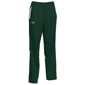 アンダーアーマー Under Armour レディース ボトムス・パンツ 【Team Qualifier Warm-Up Pants】Forest Green/White