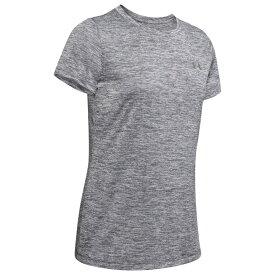 アンダーアーマー Under Armour レディース フィットネス・トレーニング Tシャツ トップス【Tech T-Shirt】Pitch Grey/Metallic Silver