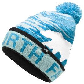 ザ ノースフェイス The North Face ユニセックス ニット ポンポン ビーニー 帽子【Ski Tuke Pom Beanie】Tnf White/Windmill Blue