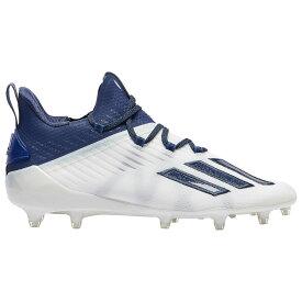 アディダス adidas メンズ アメリカンフットボール シューズ・靴【adiZero】White/Collegiate Navy/Brnight Blue