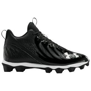 アンダーアーマー Under Armour メンズ アメリカンフットボール シューズ・靴【Spotlight Franchise RM】Black/Black/White