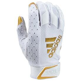 アディダス adidas メンズ アメリカンフットボール レシーバーグローブ グローブ【adiZero 9.0 Receiver Gloves】White/Metallic Gold