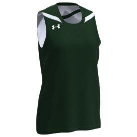 アンダーアーマー Under Armour Team レディース バスケットボール トップス【Team Clutch 2 Reversible Jersey】Dark Green/White