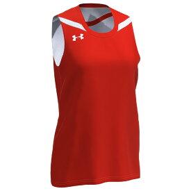 アンダーアーマー Under Armour Team レディース バスケットボール トップス【Team Clutch 2 Reversible Jersey】Orange/White