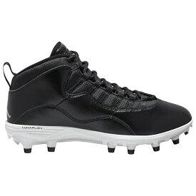 ナイキ ジョーダン Jordan メンズ アメリカンフットボール シューズ・靴【Retro 10 TD Mid】Black/White