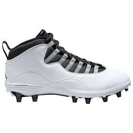 ナイキ ジョーダン Jordan メンズ アメリカンフットボール シューズ・靴【Retro 10 TD Mid】White/Black/Light Steel Grey
