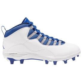ナイキ ジョーダン Jordan メンズ アメリカンフットボール シューズ・靴【Retro 10 TD Mid】White/Game Royal/Light Steel Grey