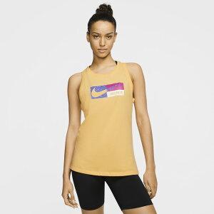ナイキ Nike レディース フィットネス・トレーニング タンクトップ トップス【Dry Icon Clash Tank】Topaz Gold