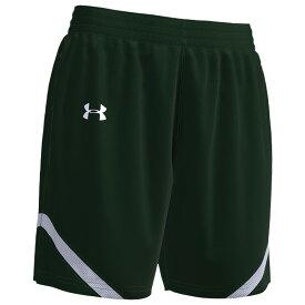 アンダーアーマー Under Armour Team レディース バスケットボール ショートパンツ ボトムス・パンツ【Team Clutch 2 Reversible Shorts】Dark Green/White