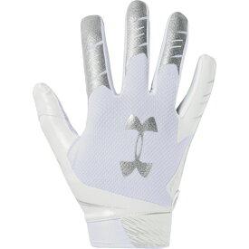 アンダーアーマー Under Armour メンズ アメリカンフットボール レシーバーグローブ グローブ【F7 Receiver Gloves】White/Metallic Silver