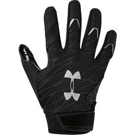 アンダーアーマー Under Armour メンズ アメリカンフットボール レシーバーグローブ グローブ【Spotlight NFL Receiver Gloves】Black/Metallic Silver