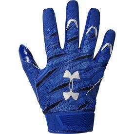 アンダーアーマー Under Armour メンズ アメリカンフットボール レシーバーグローブ グローブ【Spotlight NFL Receiver Gloves】Royal/Metallic Silver