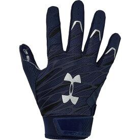 アンダーアーマー Under Armour メンズ アメリカンフットボール レシーバーグローブ グローブ【Spotlight NFL Receiver Gloves】Midnight Navy/Metallic Silver