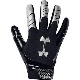 アンダーアーマー Under Armour メンズ アメリカンフットボール レシーバーグローブ グローブ【F7 Receiver Gloves】Black/Metallic Silver
