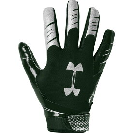 アンダーアーマー Under Armour メンズ アメリカンフットボール レシーバーグローブ グローブ【F7 Receiver Gloves】Forest Green/Metallic Silver