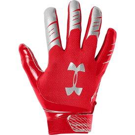 アンダーアーマー Under Armour メンズ アメリカンフットボール レシーバーグローブ グローブ【F7 Receiver Gloves】Red/Metallic Silver