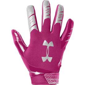 アンダーアーマー Under Armour メンズ アメリカンフットボール レシーバーグローブ グローブ【F7 Receiver Gloves】Tropical Pink/Metallic Silver